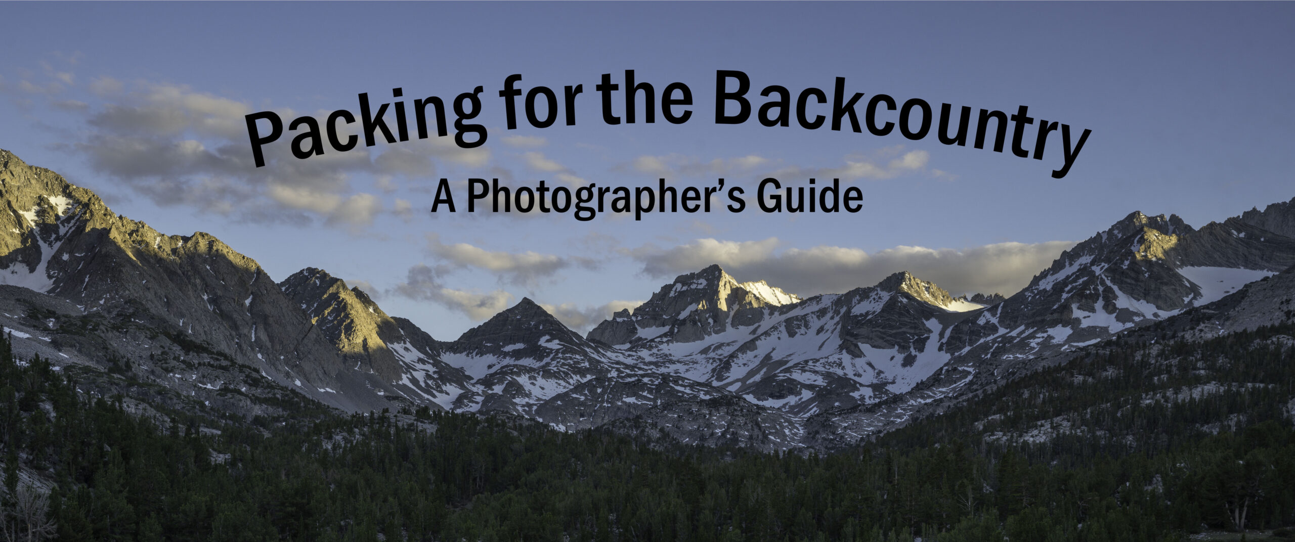 Packing for the Backcountry: A Photographer's Guide